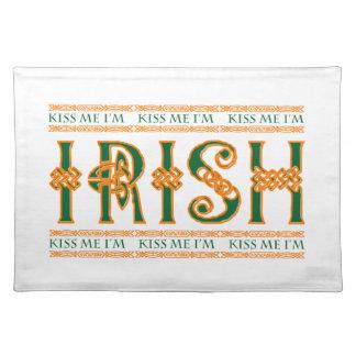 私によってがアイルランド人のMoJoのランチョンマットである私に接吻して下さい ランチョンマット