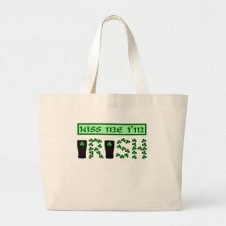 私によってがアイルランド語である私に接吻して下さい ラージトートバッグ