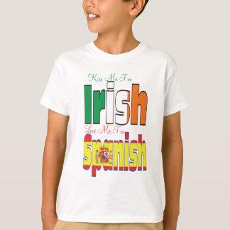 私によってがアイルランド語愛する私によってがスペインのである私をである私に接吻して下さい Tシャツ