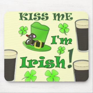 私によってがアイルランド語- St patricks dayである私に接吻して下さい マウスパッド