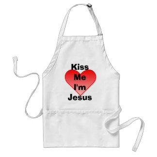 私によってがイエス・キリスト-エプロンである私に接吻して下さい スタンダードエプロン