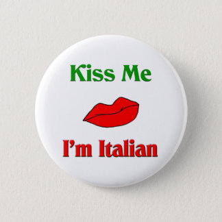私によってがイタリアンである私に接吻して下さい 5.7CM 丸型バッジ