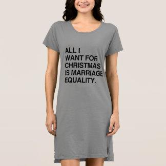 私によってがクリスマスのためにほしいすべては結婚の平等- .PNです ドレス