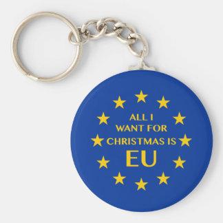 私によってがクリスマスのためにほしいすべてはEUです キーホルダー