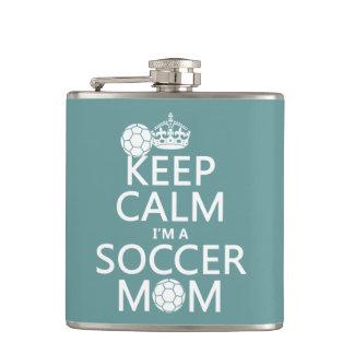私によってがサッカーのお母さんがである平静を保って下さい(あらゆる色で) フラスク