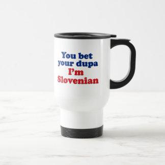 私によってがスロベニア語であるあなたのDupaを賭けます トラベルマグ