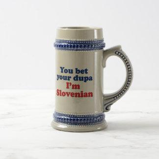 私によってがスロベニア語であるあなたのDupaを賭けます ビールジョッキ