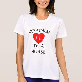 私によってがナースである平静を保って下さい Tシャツ