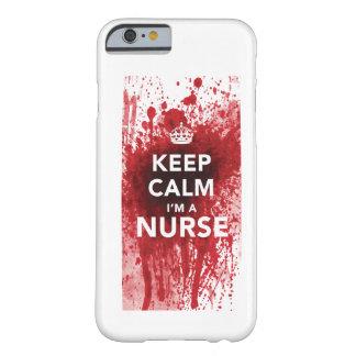 私によってがナースの血SpattedのiPhone6ケースである平静を保って下さい iPhone 6 ベアリーゼアケース