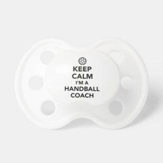 私によってがハンドボールのコーチである平静を保って下さい おしゃぶり