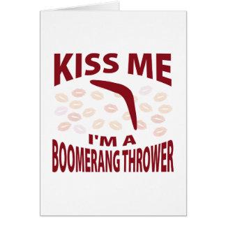 私によってがブーメランの投げる人である私に接吻して下さい カード