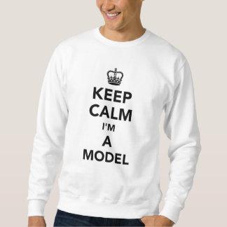 私によってがモデルである平静を保って下さい スウェットシャツ