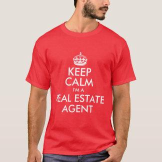 私によってが不動産業者である平静を保って下さい Tシャツ