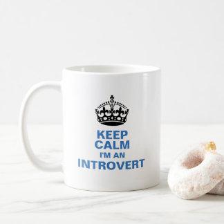 私によってが内向的である平静を保って下さい コーヒーマグカップ
