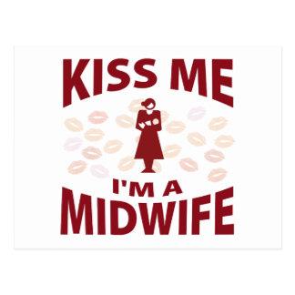 私によってが助産婦である私に接吻して下さい ポストカード