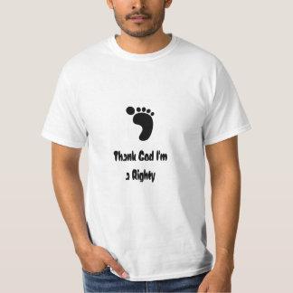 私によってが右腕投手である神を感謝していして下さい Tシャツ
