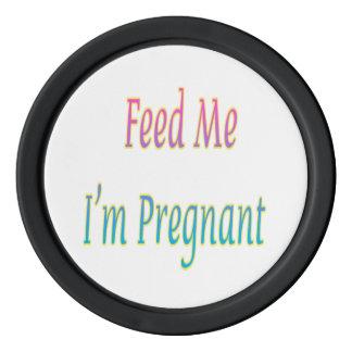 私によってが妊娠したカジノの質のポーカー用のチップである私を食べ物を与えて下さい ポーカーチップ
