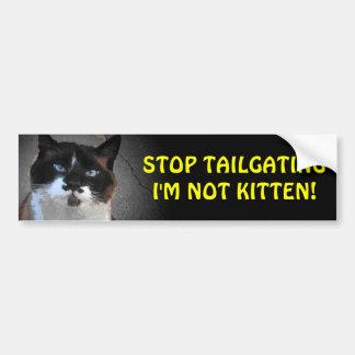 私によってが子ネコではないテールゲートは バンパーステッカー