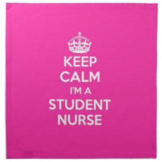 私によってが学生ナースのピンクの看護のギフトである平静を保って下さい ナプキンクロス