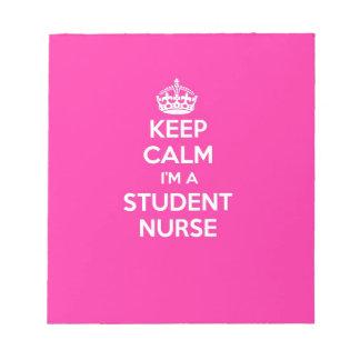 私によってが学生ナースのピンクの看護のギフトである平静を保って下さい ノートパッド