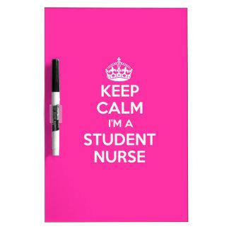 私によってが学生ナースのピンクの看護のギフトである平静を保って下さい ホワイトボード