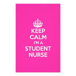 私によってが学生ナースのピンクの看護のギフトである平静を保って下さい 便箋