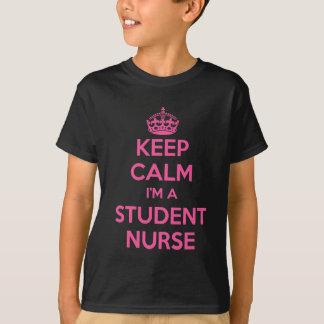私によってが学生ナースのピンクの看護のギフトである平静を保って下さい Tシャツ