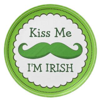 私によってが緑のおもしろいな髭とアイルランド語である私に接吻して下さい プレート