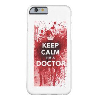 私によってが血Spatted博士のiPhone6ケースである平静を保って下さい iPhone 6 ベアリーゼアケース