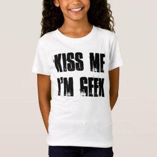 私によってが-女の子のための…ギークである私に接吻して下さい Tシャツ