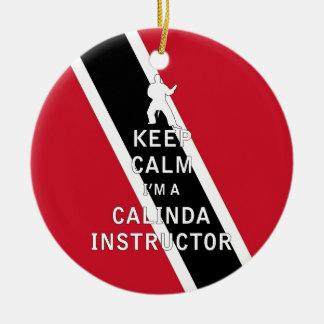 私によってがCalindaのインストラクターである平静を保って下さい セラミックオーナメント