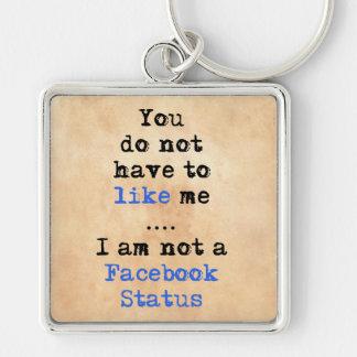 私によってがfacebookの状態ではない私のようになりません キーホルダー