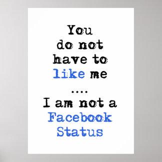 私によってがfacebookの状態ではない私のようになりません ポスター