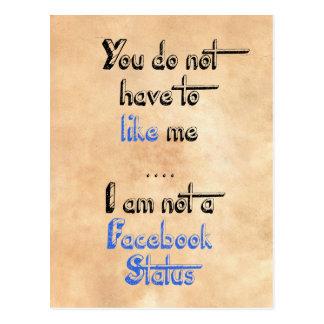 私によってがfacebookの状態ではない私のようになりません ポストカード