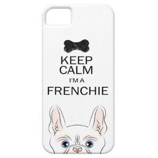 私によってがFrenchieがである平静を保って下さい(Frenchieと) iPhone SE/5/5s ケース