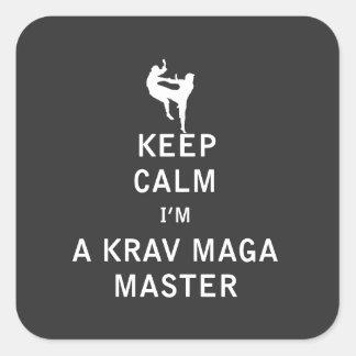 私によってがKrav Magaのマスターである平静を保って下さい スクエアシール