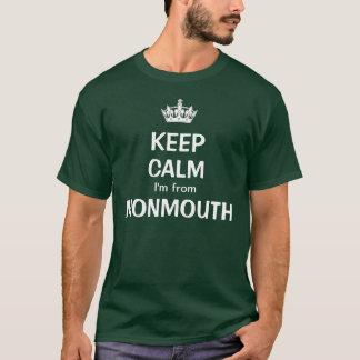 私によってがMonmouthからある平静を保って下さい Tシャツ