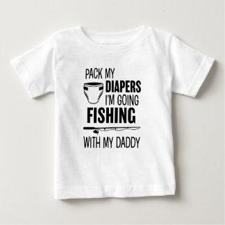 私によってがSH私のお父さんとの行く採取である私のおむつを詰めて下さい ベビーTシャツ