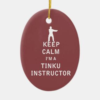 私によってがTinkuのインストラクターである平静を保って下さい セラミックオーナメント