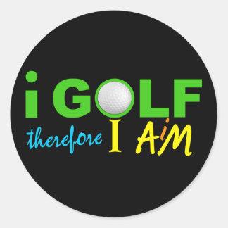 私によってはステッカーがゴルフをします ラウンドシール