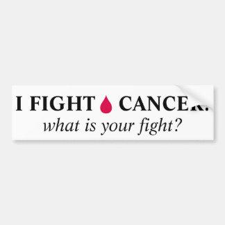 私によっては血液の癌が戦います! バンパーステッカー