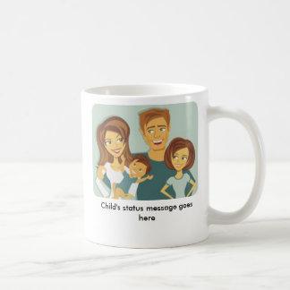 「私にカスタマイズされる子供」が状態メッセージのマグ-あります ベーシックホワイトマグカップ