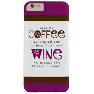 私にコーヒーおよびワインのiPhone 6のプラスの場合与えて下さい Barely There iPhone 6 Plus ケース