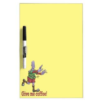 私にコーヒーを与えて下さい! 消去板を乾燥して下さい ホワイトボード
