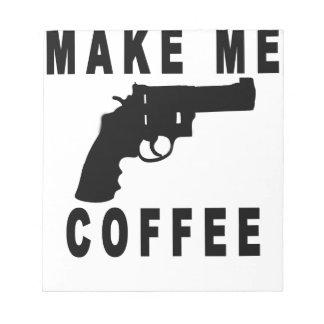 私にコーヒー(カウボーイ銃) Tシャツ.pngをして下さい ノートパッド