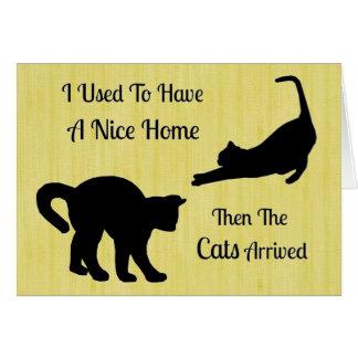 私にニースの家猫のメッセージカードがありました カード