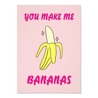 私にバナナをバレンタインのカードします カード