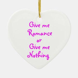 私にロマンスハートのオーナメントを与えて下さい セラミックオーナメント