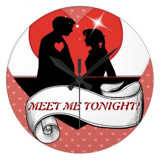 私にロマンチックな柱時計今夜会って下さい ラージ壁時計