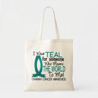 私に世界を卵巣癌意味します トートバッグ